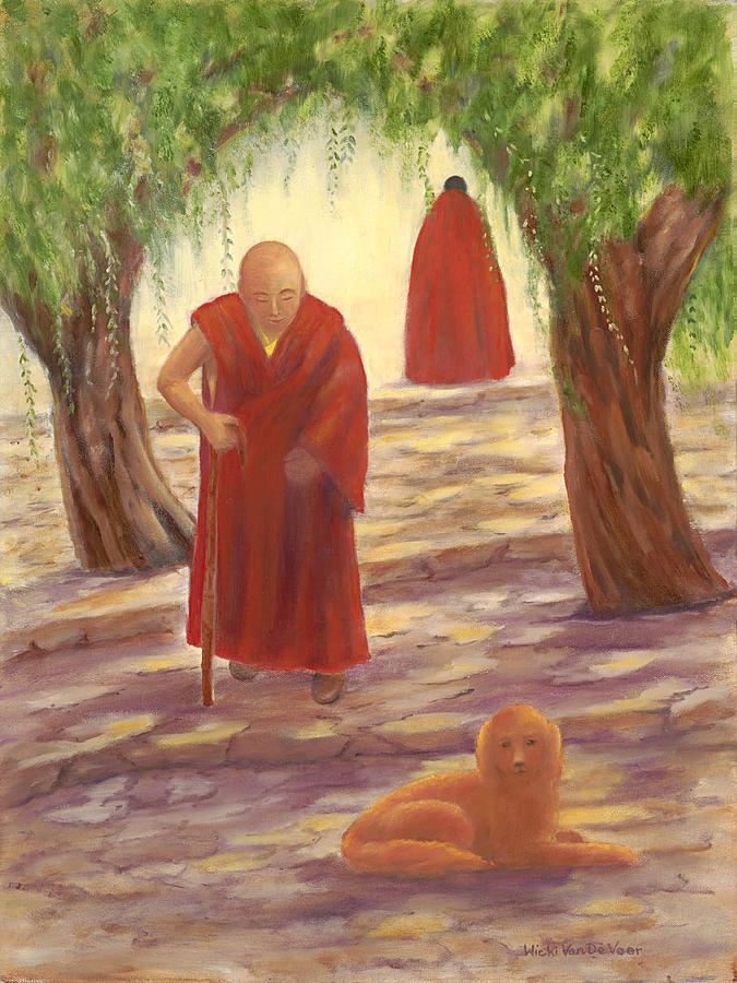Tibet Painting - Silence by Wicki Van De Veer