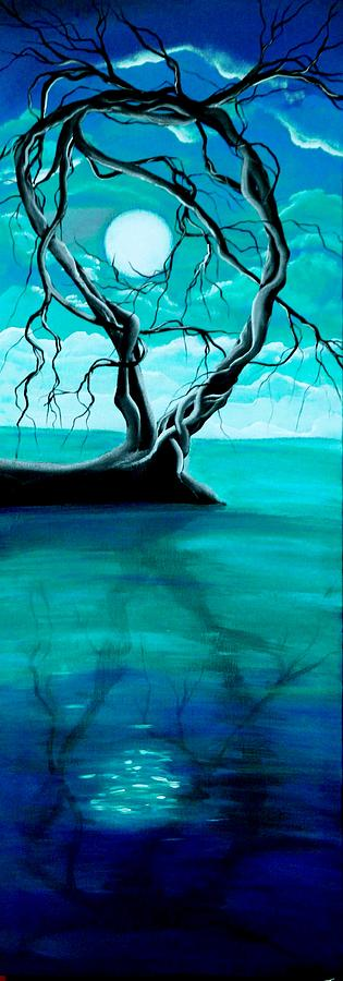 Surreal Painting - Silent Beauty by Angie Phillips