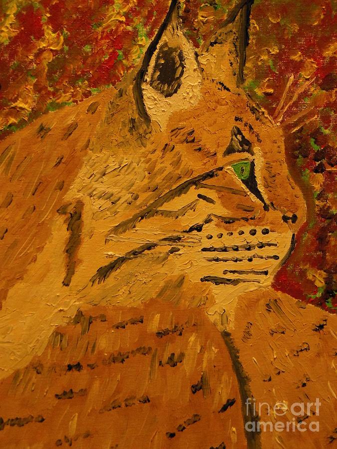 Bobcat Painting - Silent Hunter by Harold Greer