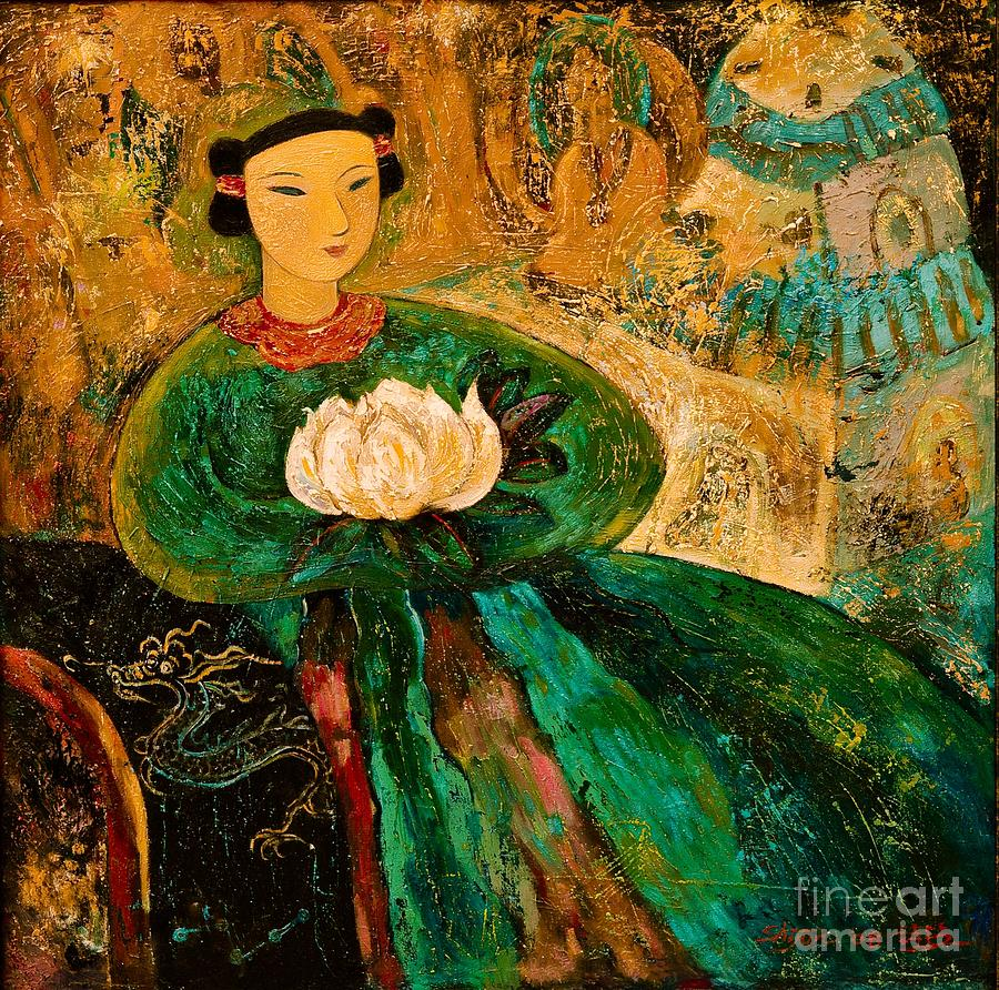 Portrait Painting - Silent Lotus by Shijun Munns