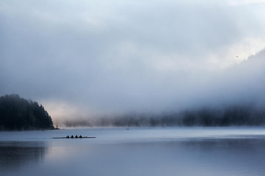 Boat Photograph - Silent Morning by Uschi Hermann