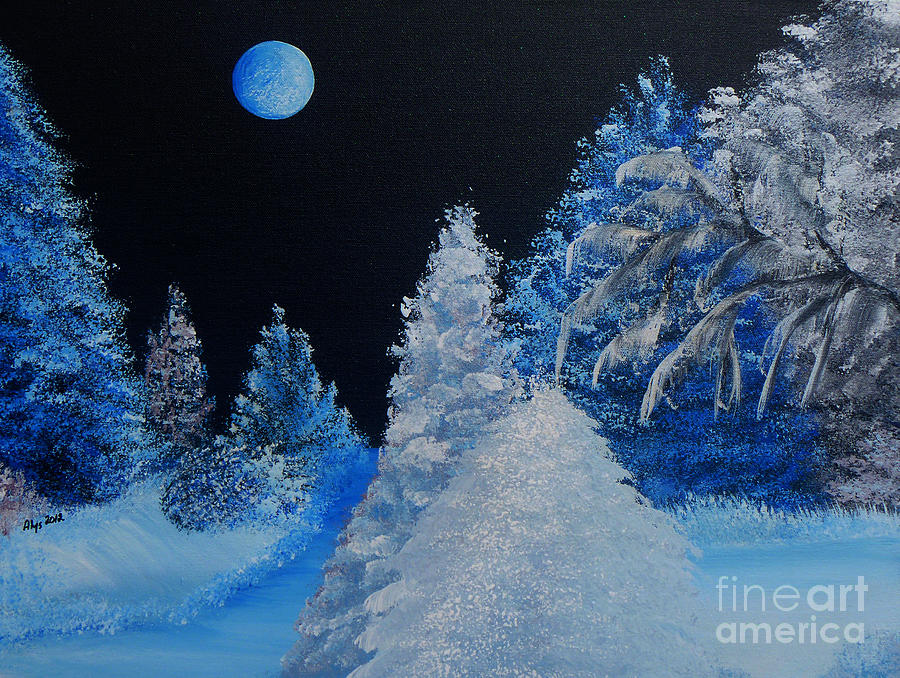 Silent Night Painting - Silent Night by Alys Caviness-Gober