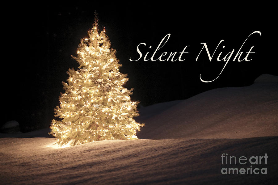 Silent Night Christmas Card Digital Art by Maureen Tillman