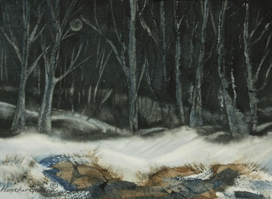 Canadian Landscape Painting - Silent Night by Heather Gallup