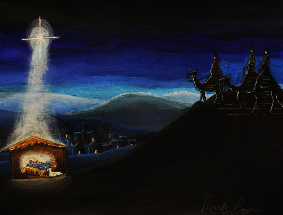 Christmas Painting - Silent Night by Mark Lopez