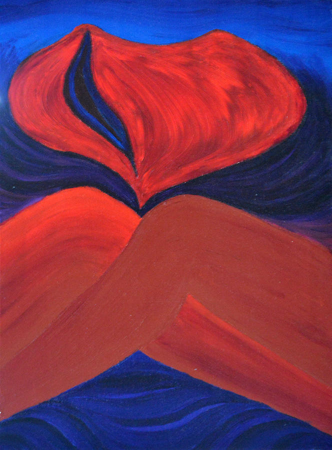 Daina Painting - Silent She Emerges by Daina White