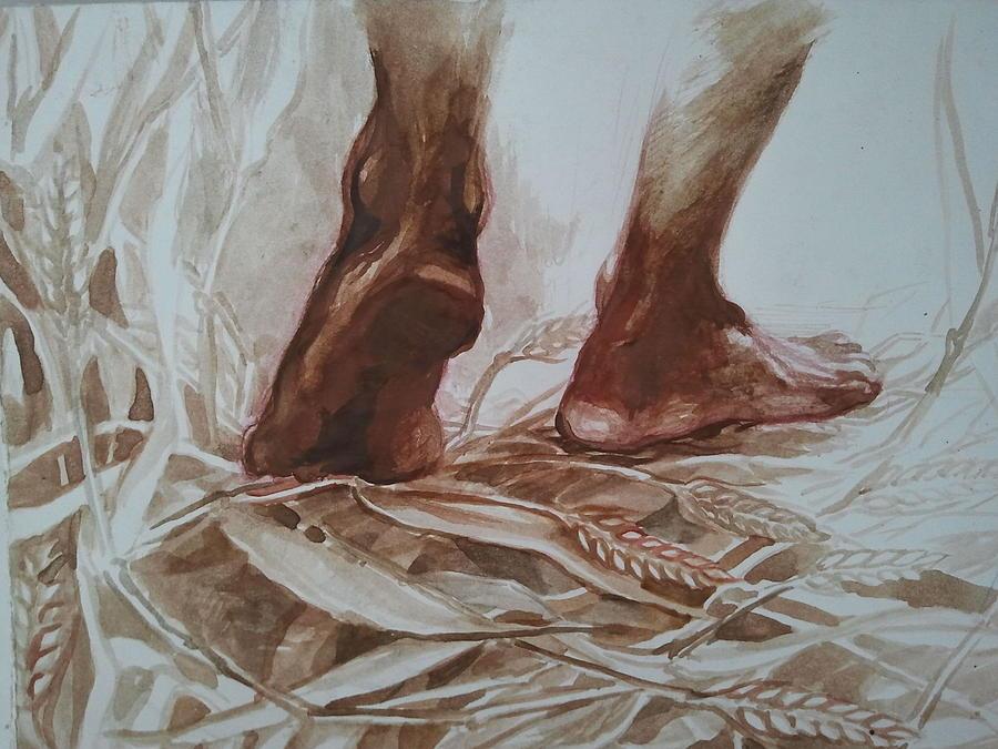 Silent Steps 1 Mixed Media by Gergana Bojikova