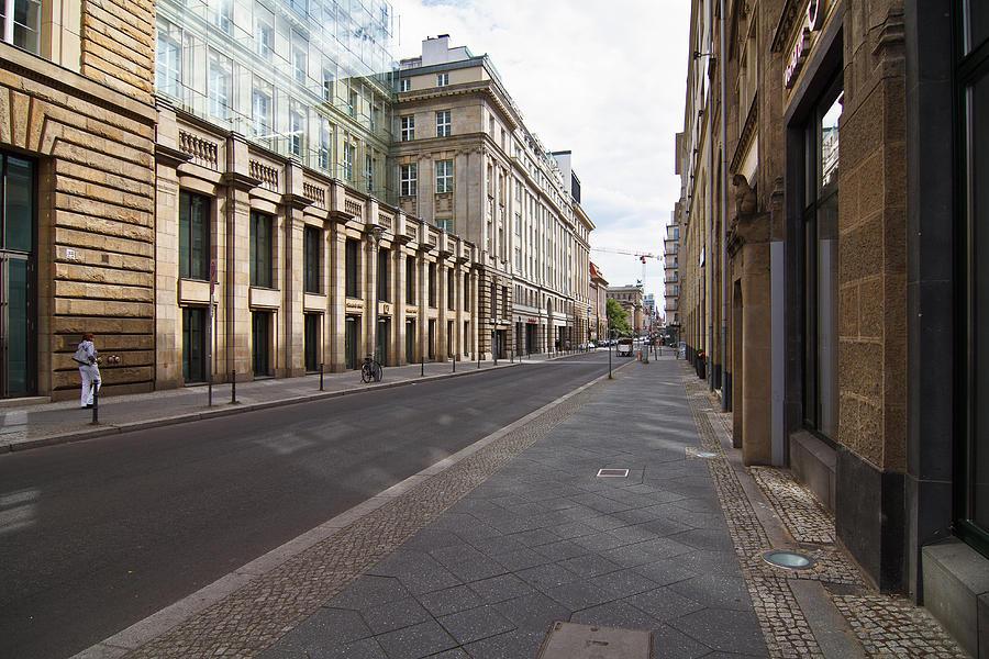 Silent street at Berlin Photograph by Kerstin Rüttgerodt