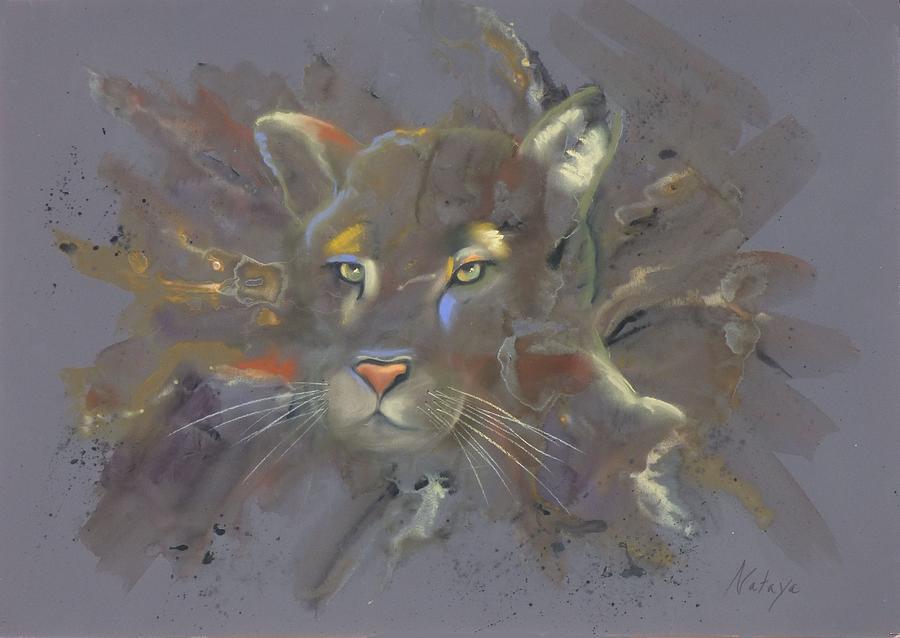 Cougar Pastel - Thundering Silence by Nataya Crow