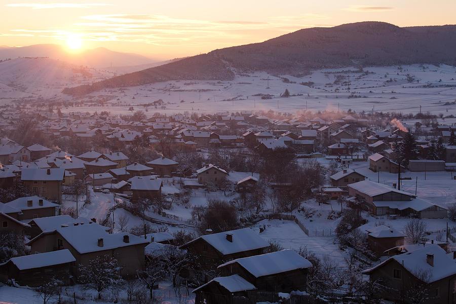 Sunset Photograph - Silent Winter Sunset  by Svetoslav Sokolov