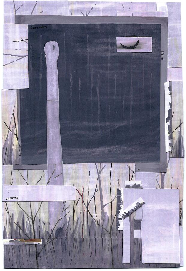 Landscape Drawing - Silently The Storm Corrodes by Dan Haley