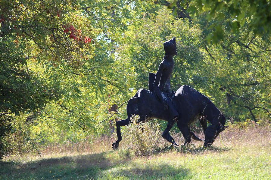 Cowboy Photograph - Silhouette  by JB Stran