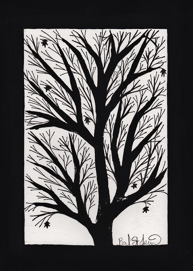 Leaf Painting - Silhouette Maple by Barbara St Jean