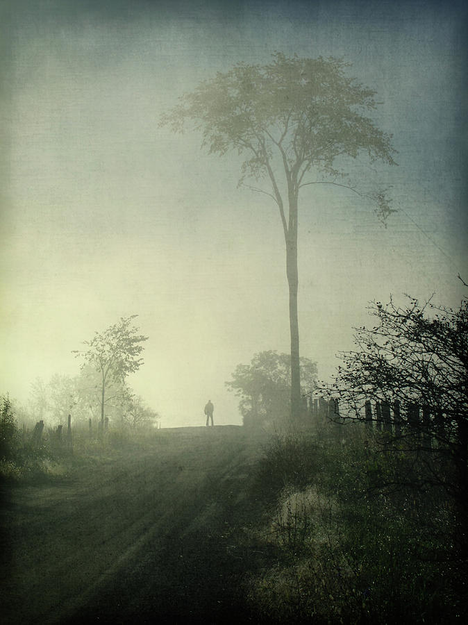 Silhouette Of A Man In Fog Photograph by Francois Dion