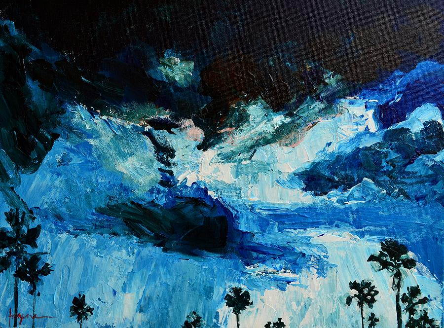 Artwork Painting - Silhouette Of Nature II by Patricia Awapara