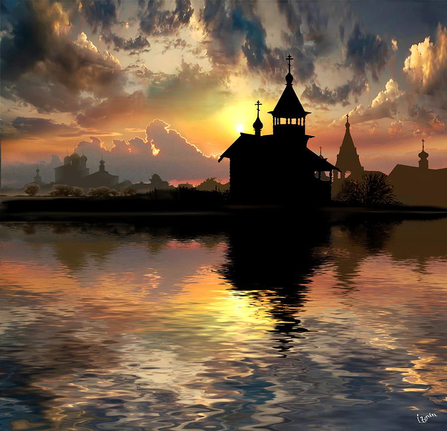 Water Photograph - Silhouettes Of The Christianity by Igor Zenin