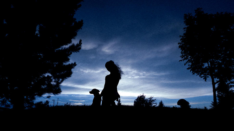 Sunset Digital Art Photograph - Silhouettes by Sergio Aguayo