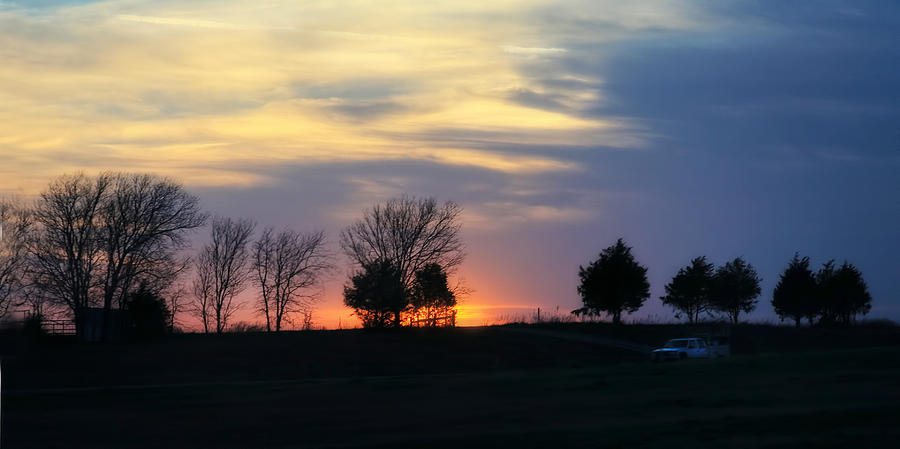 Sunset Photograph - Silhouetts Of A Sunset by Joan Bertucci