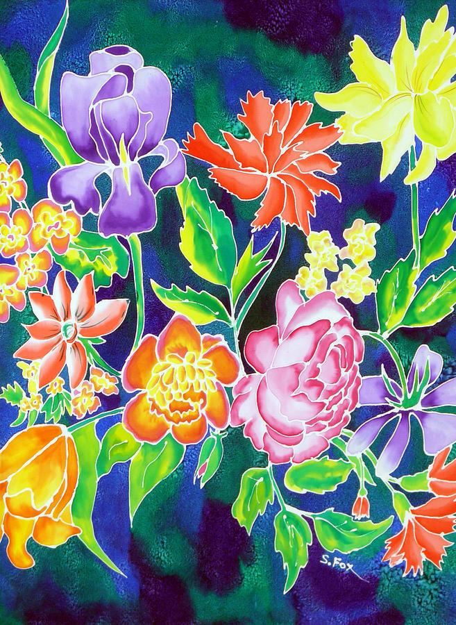 Silk Floral 1 by Sandra Fox