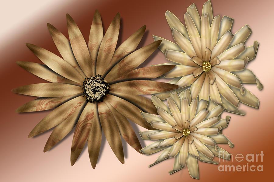 Fractals Photograph - Silk Flowers by Tina M Wenger