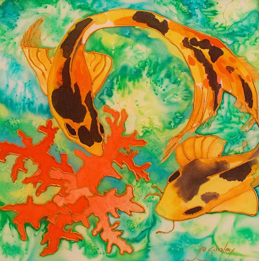 Koi Painting - Silk Koi by Joanne Smoley