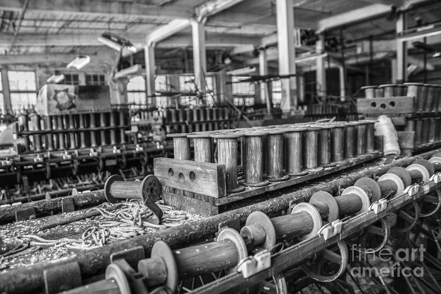 Silk Mill Photograph - Silk Mill Floor by Terry Rowe