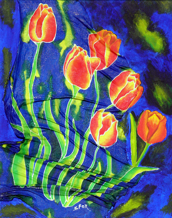 Silk Tulips by Sandra Fox