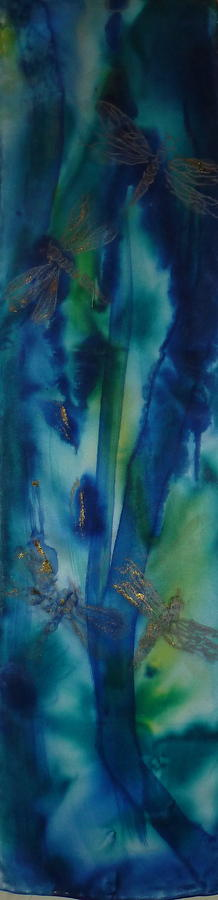 Silk Painting - Silken Branches by Phoenix Simpson