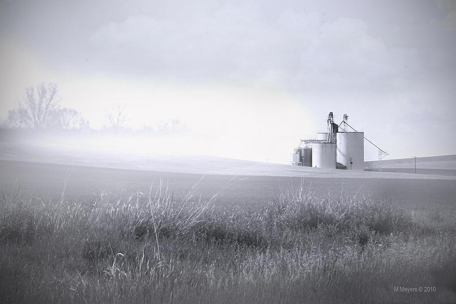 Silos Pyrography - Silo Mist by Melisa Meyers