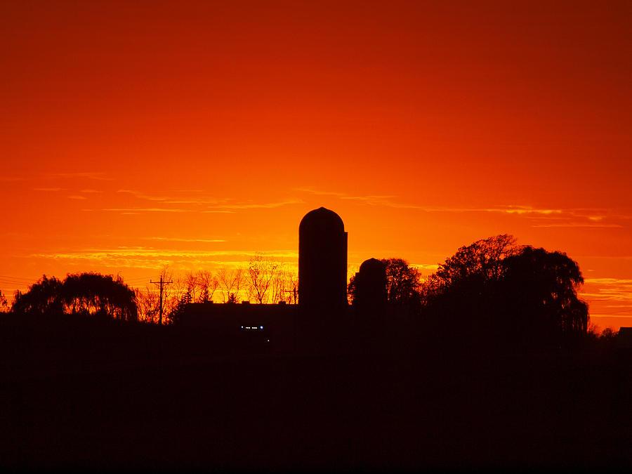 Silo Sunset by Rural America Scenics