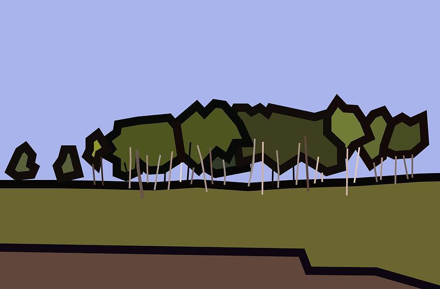 Landscape Digital Art - Silver Birch by Kenneth North