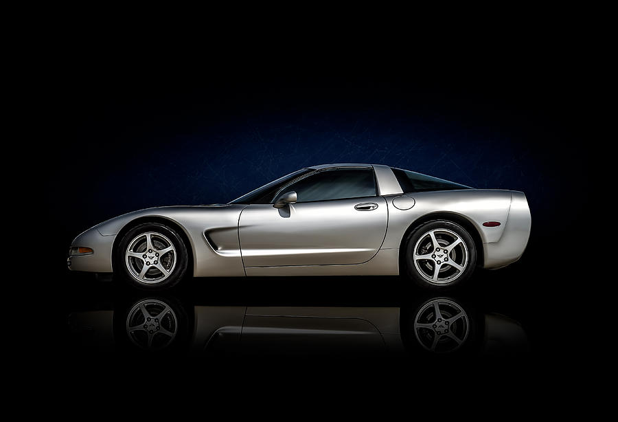 Corvette Digital Art - Silver Bullet by Douglas Pittman