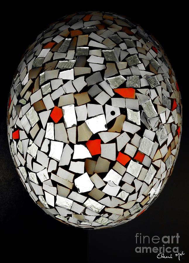Basket Digital Art - Silver Egg by Eleni Mac Synodinos