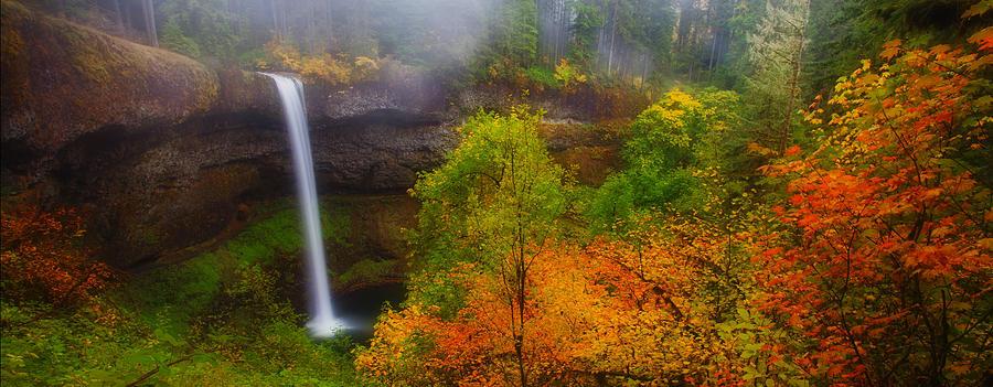 Silver Falls Pano Photograph