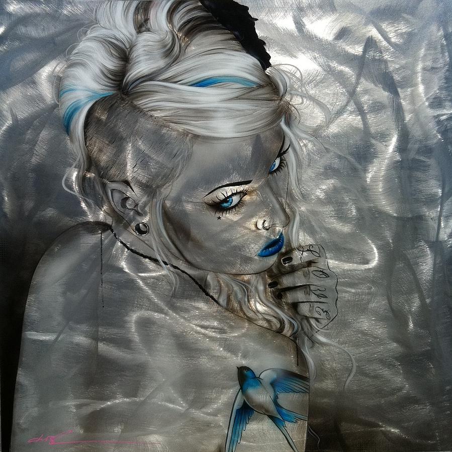 Portrait Painting - Silver Flight by Christian Chapman Art