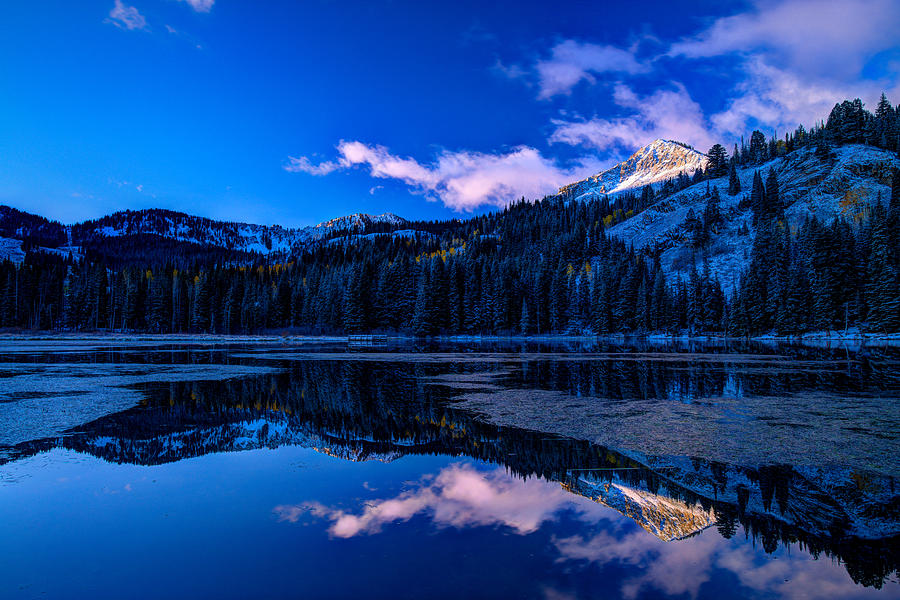 Reflection Photograph - Silver Lake by Dustin  LeFevre