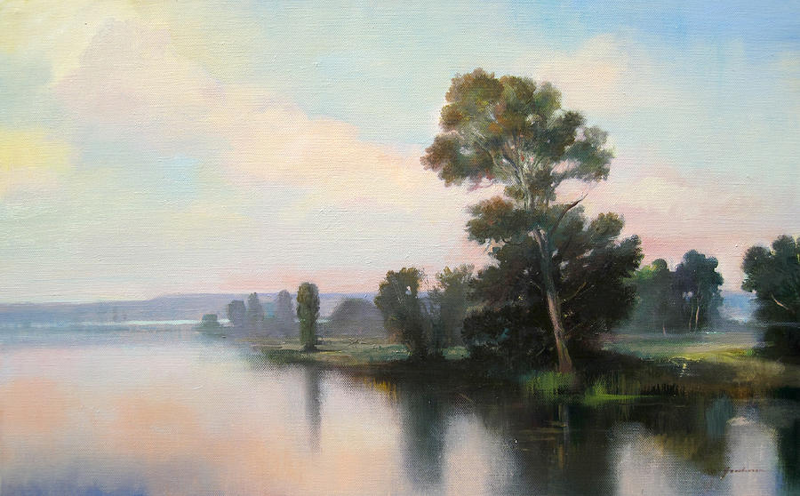 Hudson Painting - Silver Light by Keith Gunderson