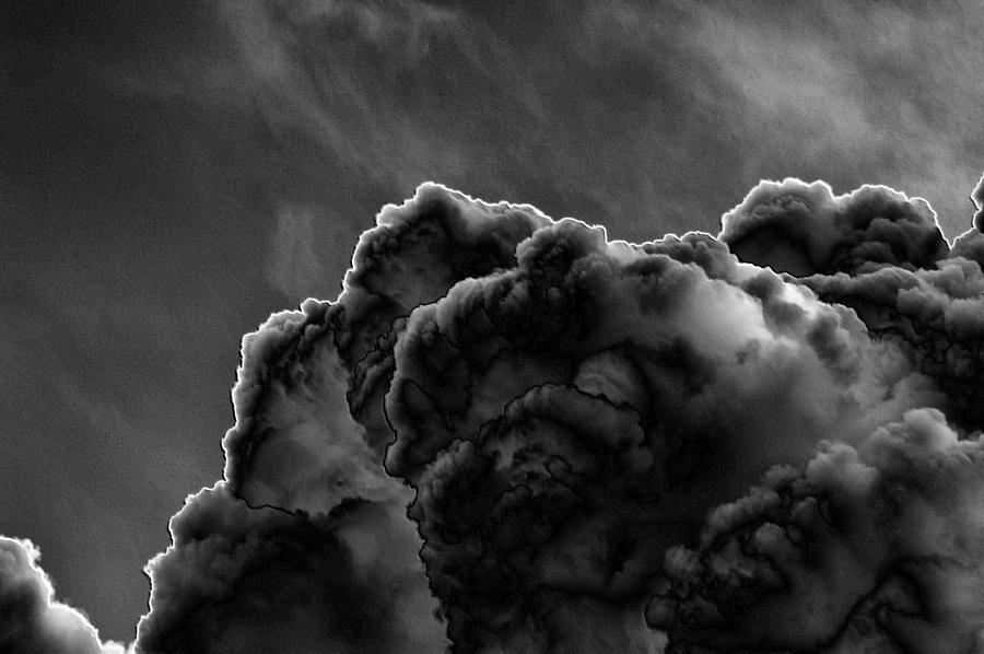 Clouds Photograph - Silver Lining by Thomas  MacPherson Jr