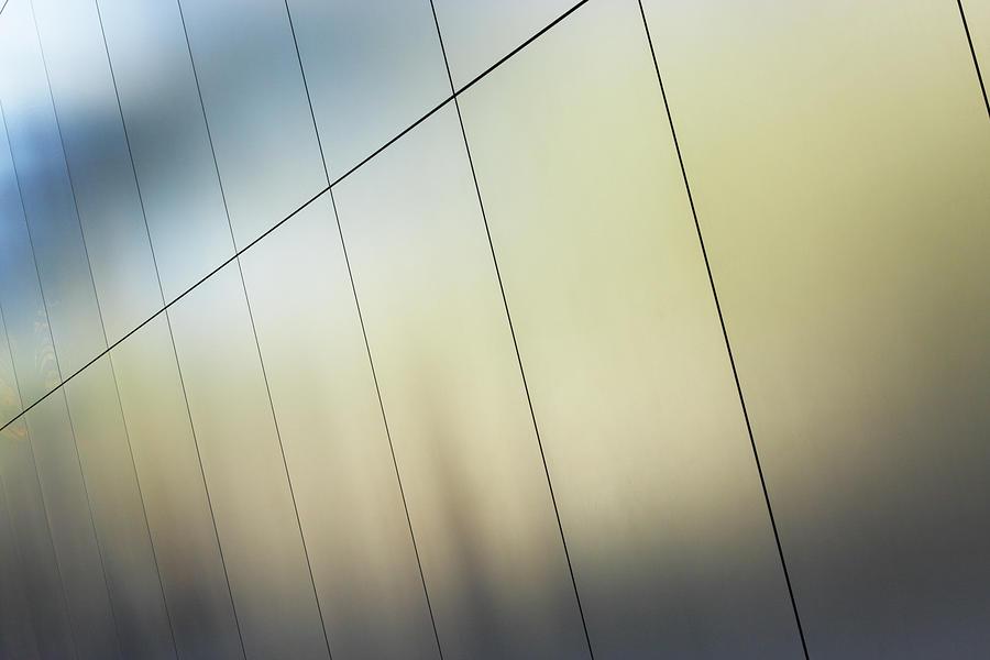 Silver Metallic Wall Panels Photograph by Chuckschugphotography