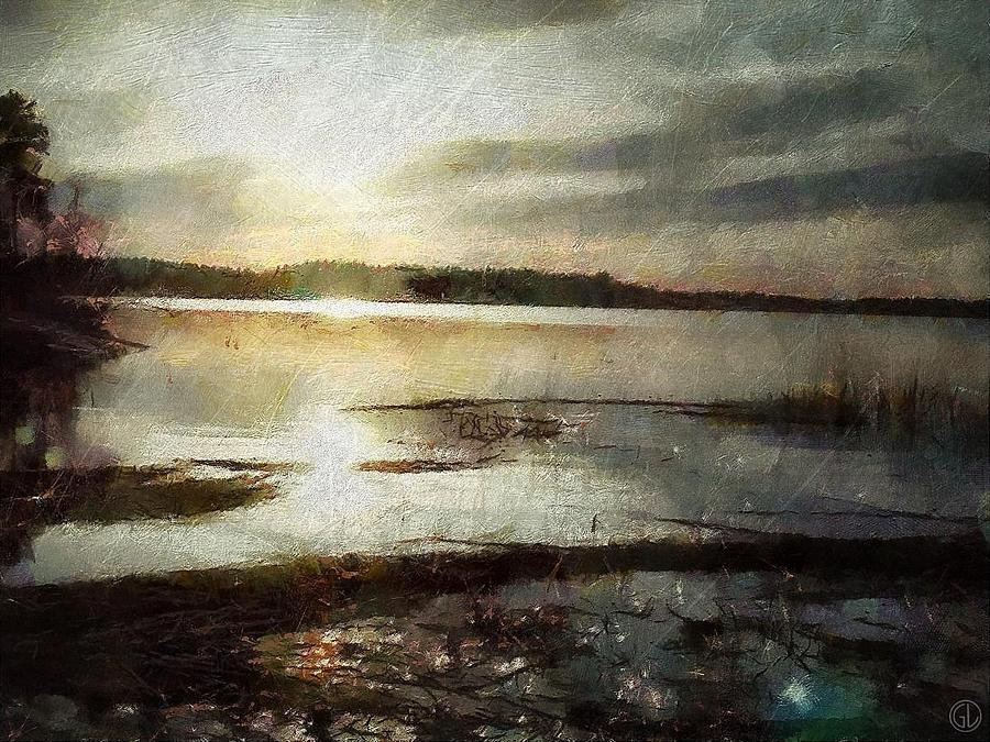 Sunrise Digital Art - Silver Morning by Gun Legler