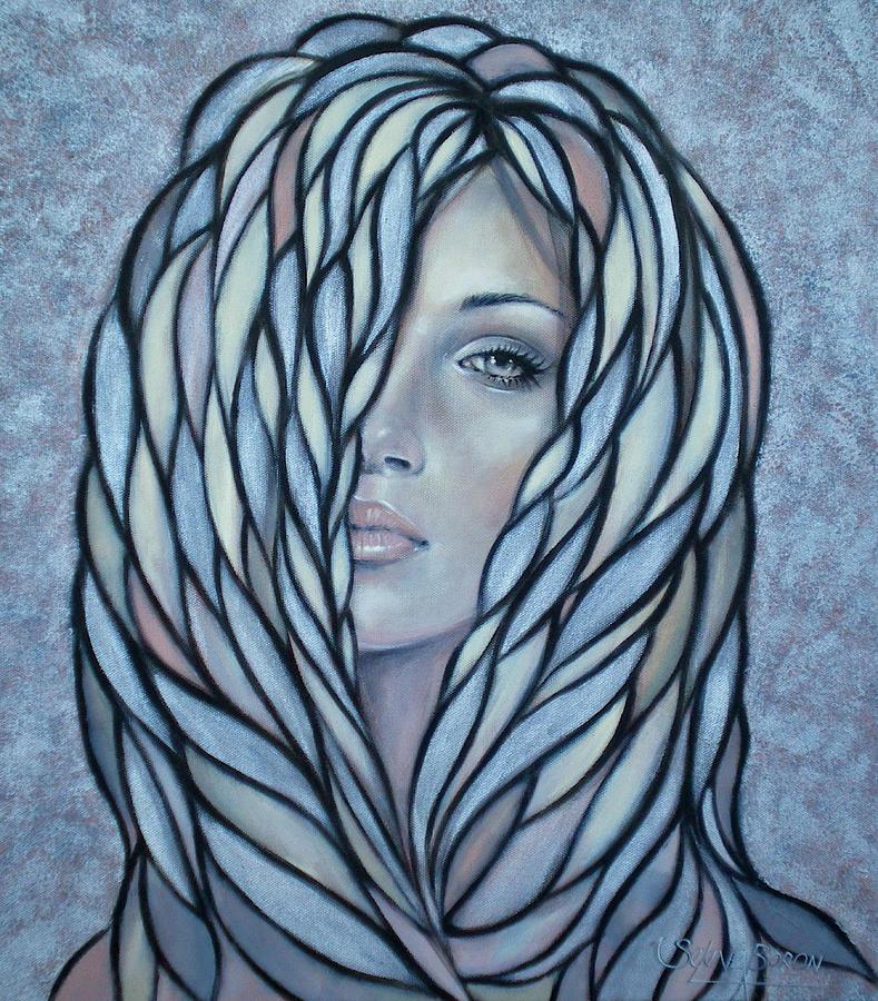 Woman Painting - Silver Nymph 021109 by Selena Boron