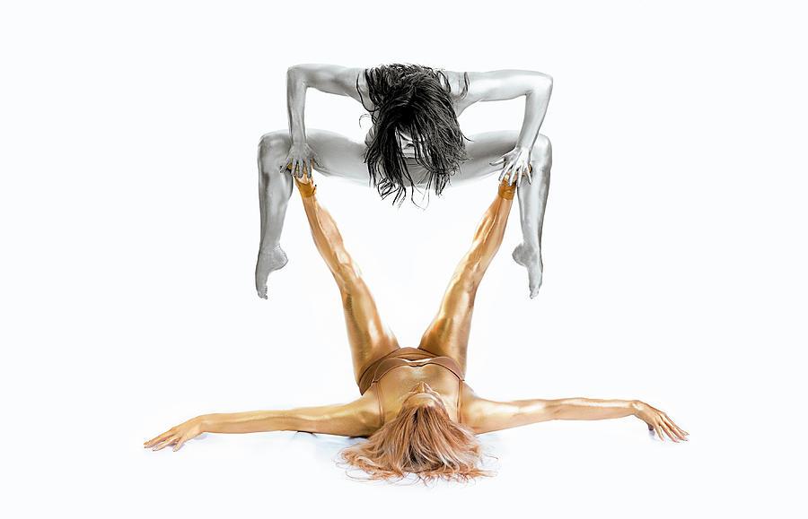 Gymnast Photograph - Silver On Gold - Gymnast Series by Howard Ashton-jones