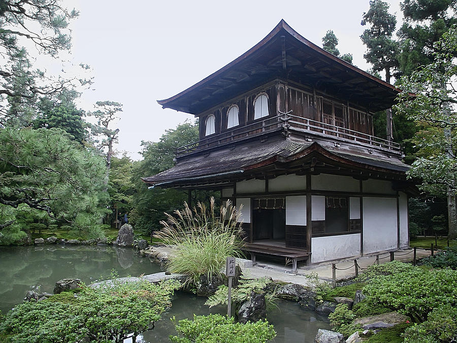 Silver Pavilion Photograph - Silver Pavilion - Kyoto Japan by Daniel Hagerman