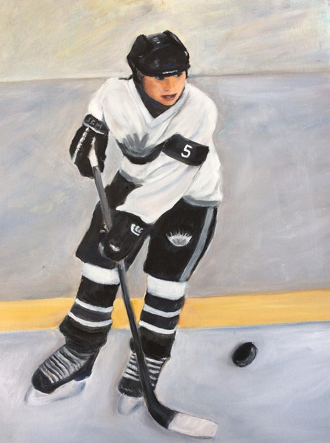 Hockey Painting - Silver Seven by Sharron Bonnar