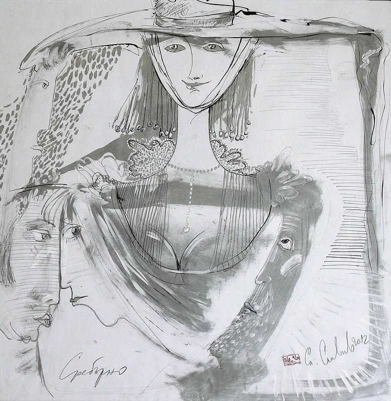 Silver Drawing by Slavcho Slavchev