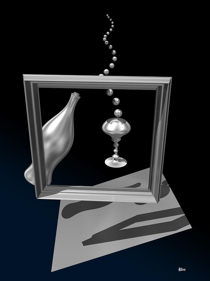 Digital Digital Art - Silver Space Champagne by Hakon Soreide