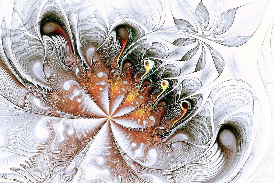 Computer Digital Art - Silver Waves by Anastasiya Malakhova