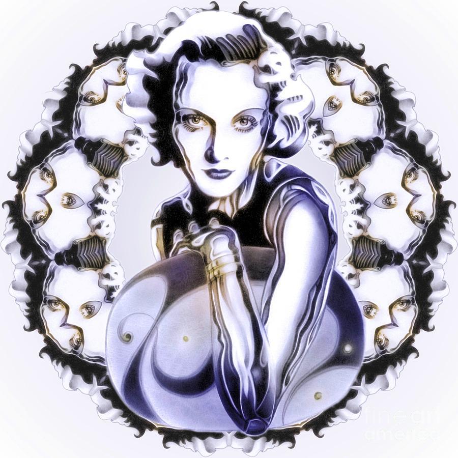 Carole Lombard Digital Art - Silverscreenstar Carole Lombard by Wu Wei