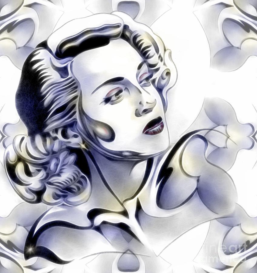 Lana Turner Mixed Media - Silverscreenstar Lana Turner by Wu Wei