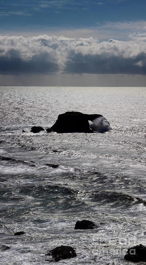 Splashy Foamy Water Photograph - Silvery Ocean Sheen by Wernher Krutein